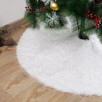 Christmas Tree Skirt, 120cm, Christmas Tree Rug, Christmas Tree Foot Cover (White), Christmas Tree Decoration