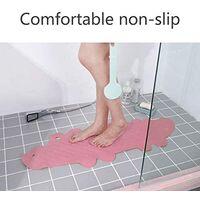 Bath Mat Non-slip Shower Mat-Bathroom Shower Foot Mat Kids Cartoon Bath Mat with Suction Cup 95 * 34.5cm Pink