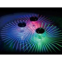 4 Pieces Waterproof 7 color solar floating pool light, used for party, garden, yard, park, pond, lake, swimming pool and other decorative lights.