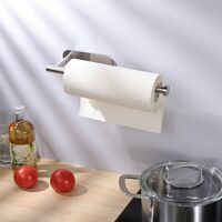 Kitchen Roll Holder under Cabinet, Paper Roll Holder Self Adhesive Paper Towel Holder SUS 304 Stainless Steel