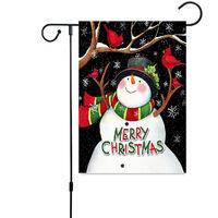 Christmas Decoration Banner, Merry Christmas Double Sided Linen Banner 30 * 45cm, Outdoor Garden Doors and Windows Hanging Banner Christmas Logo, Christmas Gifts (Elk)