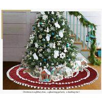 Plush Red Christmas Tree Skirt for Christmas or Christmas Party Decoration - 122cm