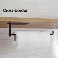 Stainless Steel Round Unperforated Kitchen Paper Towel Holder Kitchen Roll Holder Paper Towel Holder