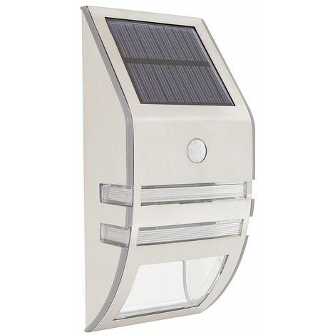 GardenKraft 11270 Solar Powered Security Light / Motion Sensored 'Auto On' Light / 5V Solar Panel / Weatherproof Stainless-Steel Construction