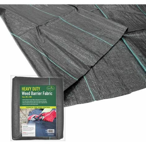 GardenKraft 10079 Heavy Duty Weed Control Fabric / 20m Coverage From 1 Individual 10m x 2m Barrier Roll / Multi-Purpose Garden Landscaping Ground Cover
