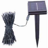 GardenKraft 15410 100 Bright White Solar Powered Outdoor LED String Lights / IP44 Weatherproof / Auto-On / Garden, Weddings, BBQ's, Parties