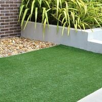GardenKraft Benross 26070 4 x 1 Metre 15mm Pile Roll Artificial Grass, Green, 400_x_100_cm