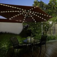 GardenKraft 13880 72 LED Parasol Timer Lights | Warm White |Auto Timer Functionality | Indoor/Outdoor String Lights