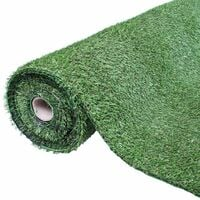 GardenKraft 26079 Roll 4m x 1m 15mm Pile Height Carpet Artificial Grass Astro Garden Lawn High Density Fake Turf, Dark Green