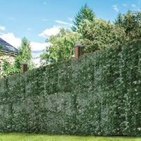 GardenKraft 26120 3m x 1m Dark Ivy Leaf Artificial Expandable Fence Panel UV Fade Protected/Privacy Screens/Garden Hedge Landscaping