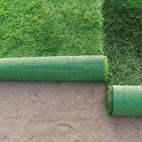 GardenKraft 26019 Green Roll 4m x 1m 25mm Pile Height Carpet Artificial Grass Astro Garden Lawn High Density Fake Turf