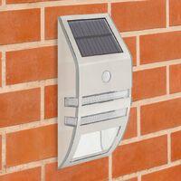 GardenKraft 11279 Solar Powered Security Lights / Pack of 2 / Motion Sensored 'Auto On' Light / 5V Solar Panel / Weatherproof Stainless-Steel Construction