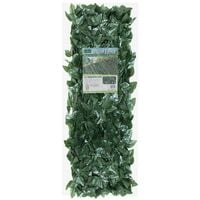 GardenKraft 26140 2.6m x 0.7m Dark Ivy Leaf Artificial Hedge Panels / Expandable Fence Panel Screening / UV Fade Protected / Privacy Screens / Garden Hedge Landscaping