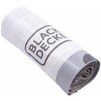 BLACK+DECKER BXBB00050E 50L Drawstring Bin Liners, 5 x 20 Pack, White, 82 x 56cm