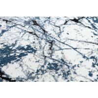 Tapis moderne COZY 8871 Marble, Marbre - Structural deux niveaux de molleton bleu nuances de bleu 200x290 cm
