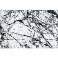 Tapis moderne COZY 8871 Cercle, Marble, Marbre - Structural deux niveaux de molleton gris nuances de gris et argent cercle 120 cm