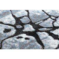 Tapis moderne COZY 8873 Cracks, béton fissuré - Structural deux niveaux de molleton gris clair / bleu nuances de bleu 200x290 cm