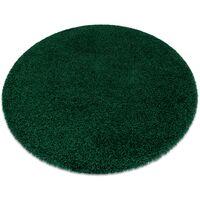 Tapis SOFFI Cercle shaggy 5cm bouteille verte nuances de vert cercle 120 cm