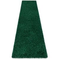 Tapis, le tapis de couloir SOFFI shaggy 5cm bouteille verte - pour la cuisine, l'antichambre, le couloir nuances de vert 60x300 cm