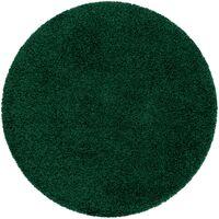 Tapis SOFFI Cercle shaggy 5cm bouteille verte nuances de vert cercle 100 cm