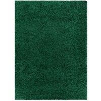 Tapis SOFFI shaggy 5cm bouteille verte nuances de vert 160x220 cm