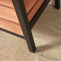 Solid Wood 6 Drawer Wide Chest Storage Unit Bedroom Office Organiser Metal Frame