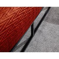 Black 4ft 6 Double Platform Bed With Wooden Slats Metal Frame Modern Style