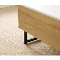 Oak White Wooden Coffee Table With Lift Up Top Storage Area and Magazine Shelf