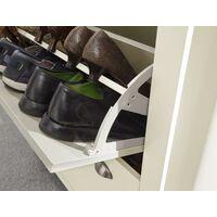 Cream Oak 2 Door Shoe Cabinet 1 Drawer Hallway Storage Cupboard Metal Handles