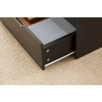 Black Wooden Coffee Table With Lift Up Top and 2 Large Storage Drawers Bruges