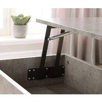 Dark Slate Effect Wooden Coffee Table Lift Up Top Storage Area Magazine Shelf