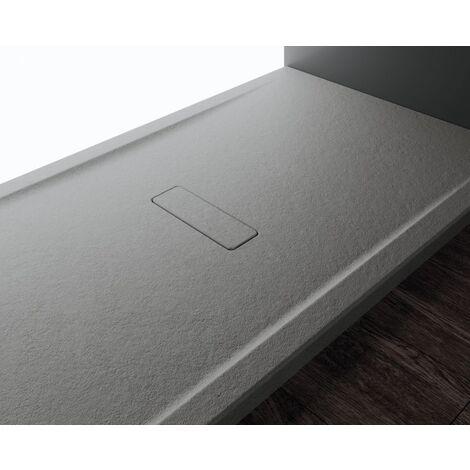 Receveur rectangulaire CUSTOM TOUCH Gris - Hauteur 3.5 cm - 180x90 cm
