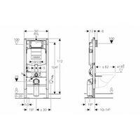 Pack WC Geberit UP320 + Cuvette Architectura D Villeroy + plaque Sigma Chromé Brillant