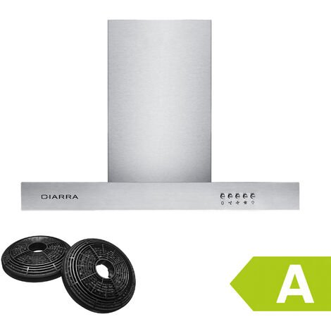 CIARRA 60cm Wall Mount Cooker Hood with 3-speed Extraction-125SS60 - Stainless Steel