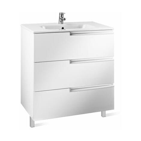 Roca-8433291106953 Roca - Unik Family (mueble base y lavabo) - 90 cm, Serie Victoria-N , Color Blanco brillo