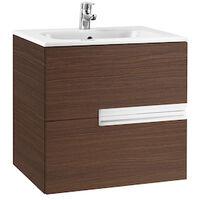 Roca-Unik Victoria-N (mueble base y lavabo) 600 mm, wengé texturizado.