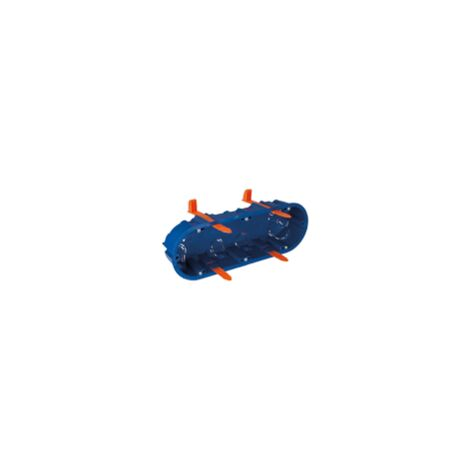 Boîtier pour encastrement dans cloison creuse 3 éléments 219x68x46mm 6 entrées pour tube diamètre 20 SOLERA 5825GW