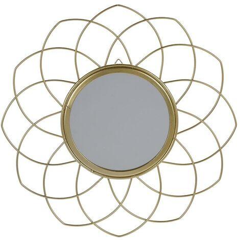 Miroir avec cadre en métal