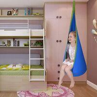 GOPLUS Hamac Enfant avec Coussin d'Air Chaise Suspendu pour Enfant 70x160cm Bleu/Vert/Rose Charge Max 82kg (Bleu)
