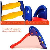 GOPLUS Toboggan Pliant en Plastique pour Enfants, Aire de Jeux Jeu d'Extérieur et d'Intérieur, Facile à Ranger, avec Capacité de Charge 50KG, pour Enfant de 3 à 8 Ans, Multicolore
