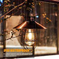 Lanterne solaire à suspendre avec crochet, lampe solaire à LED vintage avec blanc chaud, cage en acier, lanterne solaire à énergie solaire étanche pour jardin, cour, terrasse, clôture, décor - Bronze