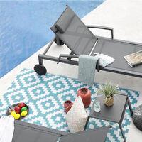 tappeto reversibile interno / esterno 180x90cm - kenya90cm - red deco