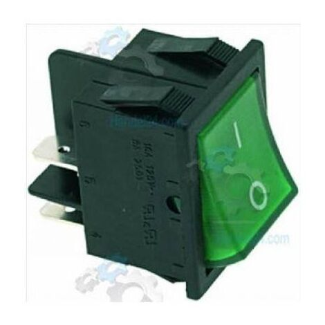 Bipolar Switch 30X22 Mm Contantti 16A Green
