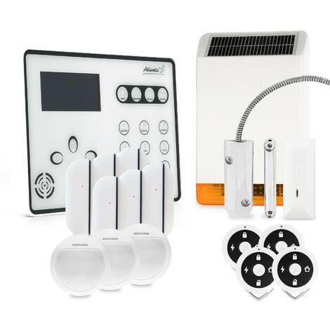 Alarme GSM Atlantic'S ATEOS - Kit max avec sirène solaire - Blanc