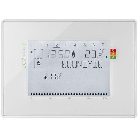 Programmateur radio fil pilote avec récepteur pour radiateurs - Somfy - Blanc