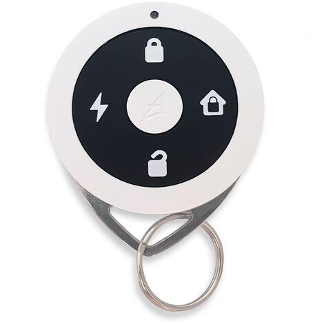 Télécommande 4 fonctions et badge RFID - Alarme Atlantic's - Blanc