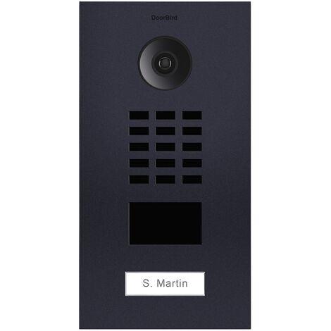 Portier vidéo IP lecteur de badge RFID + Boitier de montage apparent - Doorbird - Anthracite - Gris