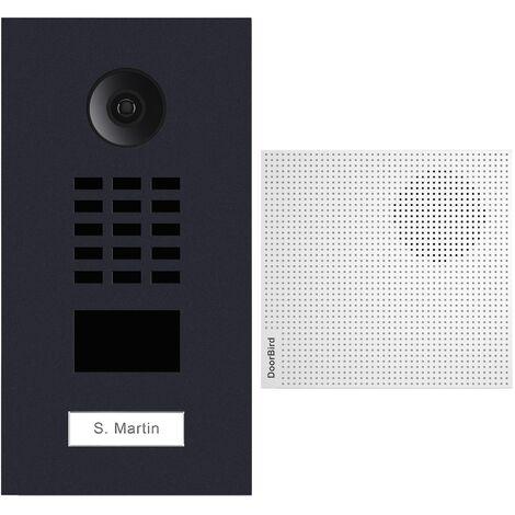 Portier vidéo IP lecteur de badge RFID + Carillon + Support de montage - Doorbird - Anthracite - Gris