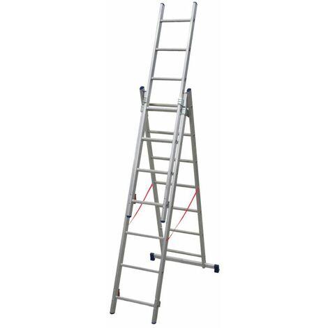 Echelle Universelle 3 plans adaptable aux escaliers ES03F200