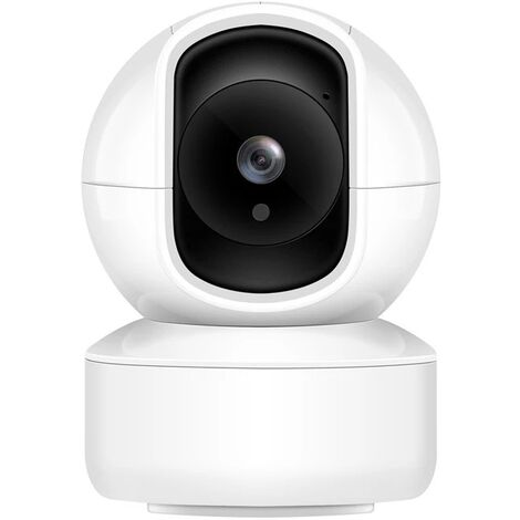 WiFi Surveillance Camera, 1080P Indoor WiFi IP Camera with Motion Detection, Two-Way Audio for / Pet - White
